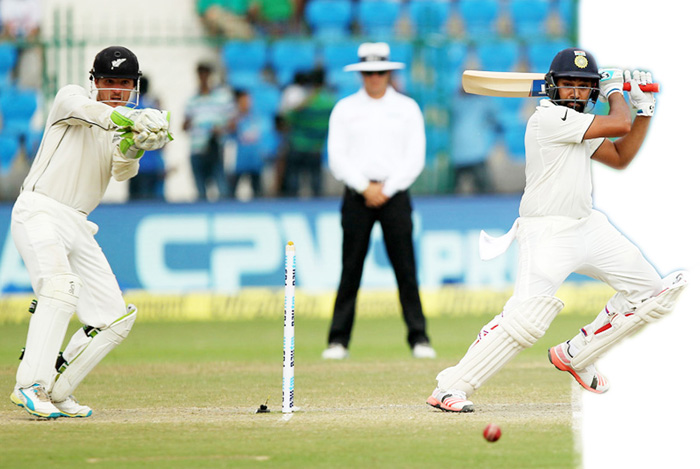 Rohit Sharma of India in action during day 4 of the first test match between India and New Zealand held at the Green Park stadium on the 25th September 2016.Photo by: Prashant Bhoot/ BCCI/ SPORTZPICS